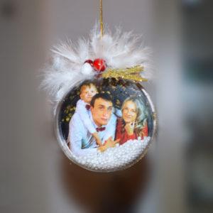 Pallina Personalizza Foto Famiglia